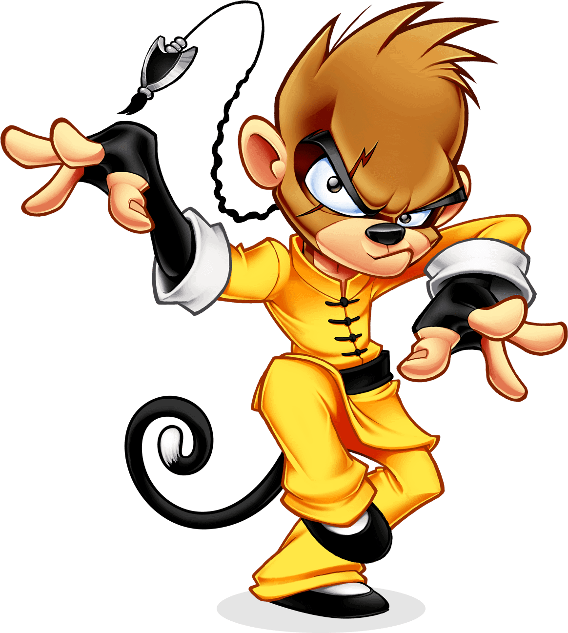 mascot design drunken monkey