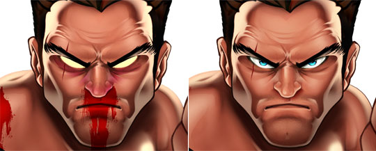 digital painting face
