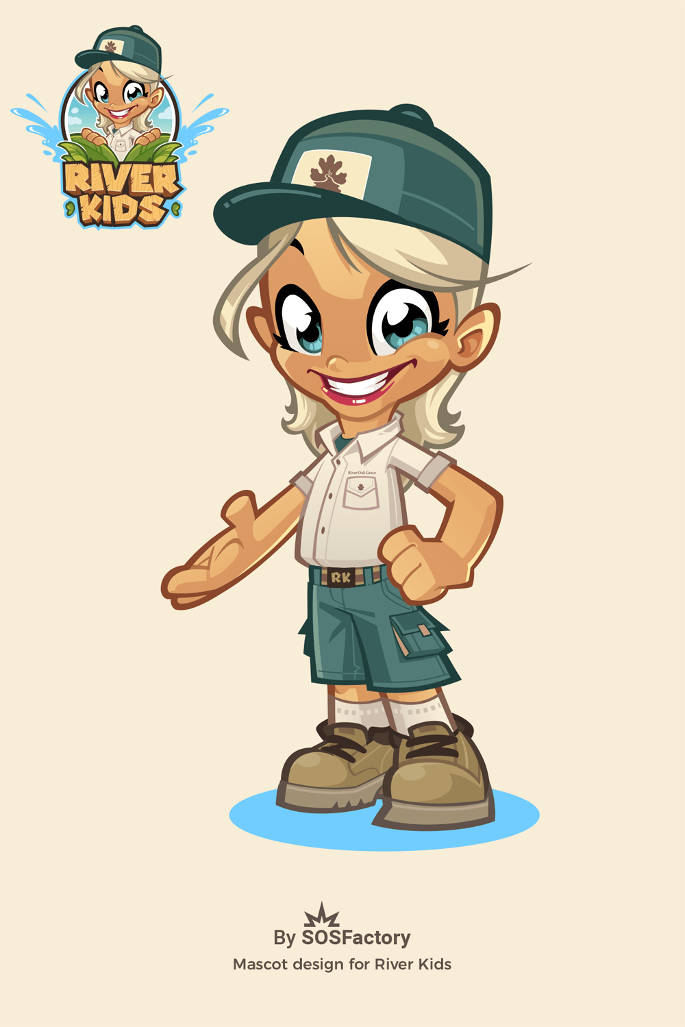 River Kids Mascot design