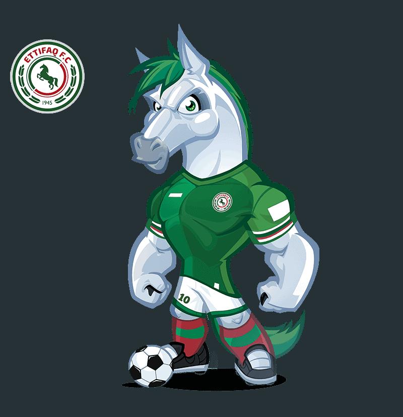 Ettifaq FC mascot design