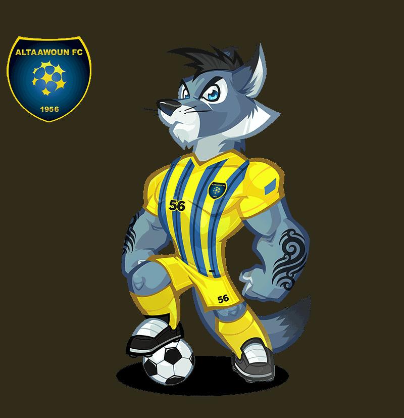 Al-Taawoun FC mascot design