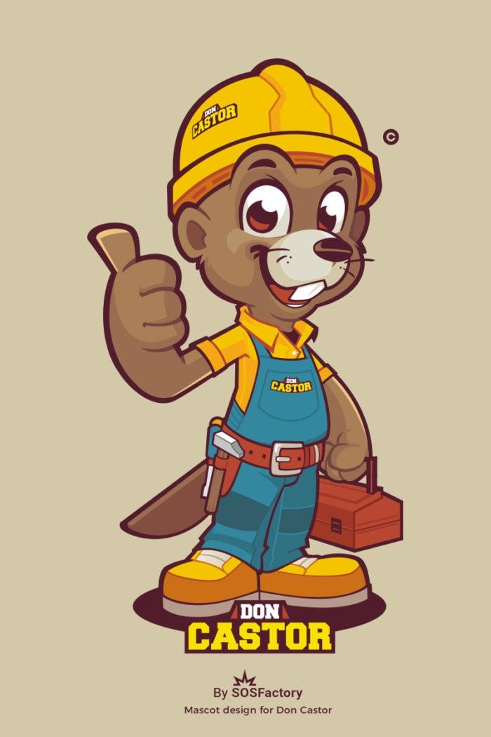 don castor mascot design