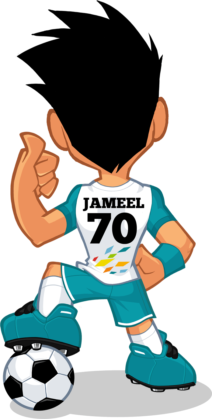 jameel mascot back