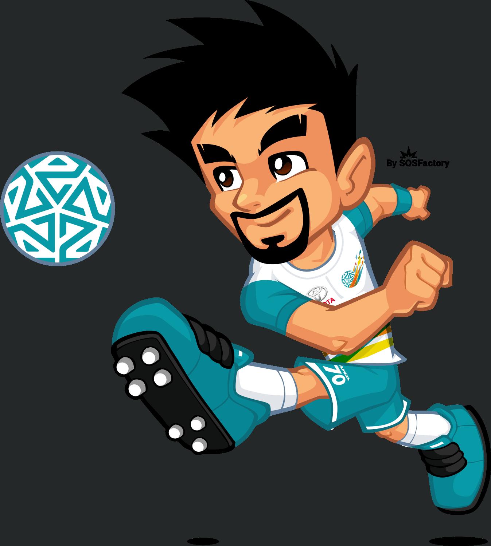 Jameel kicking the ball