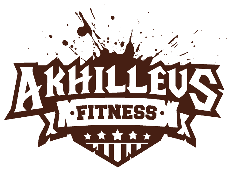 fitness logo design 1 color dark