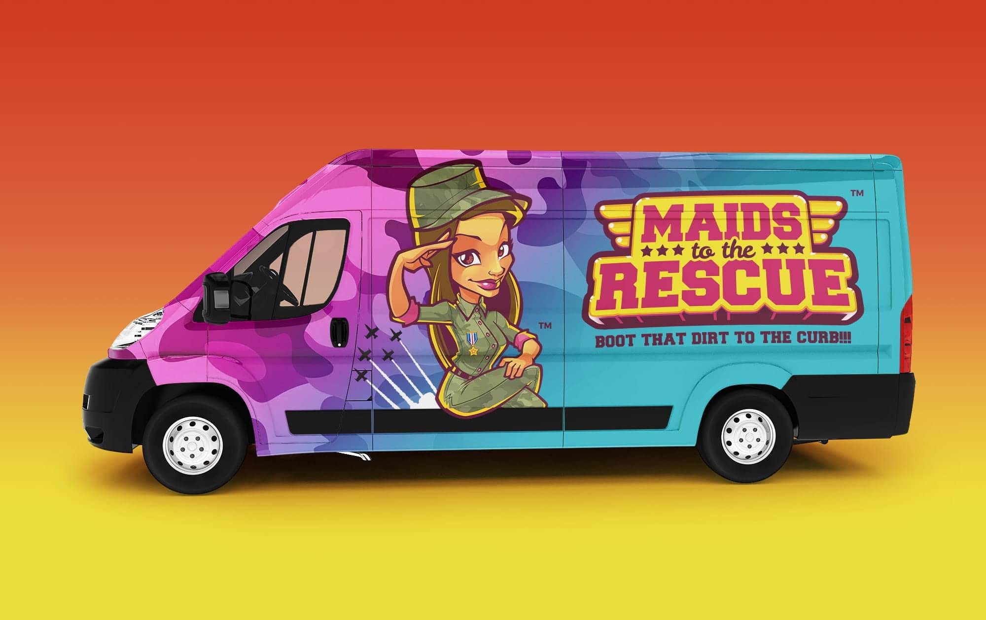 van wrap logo design