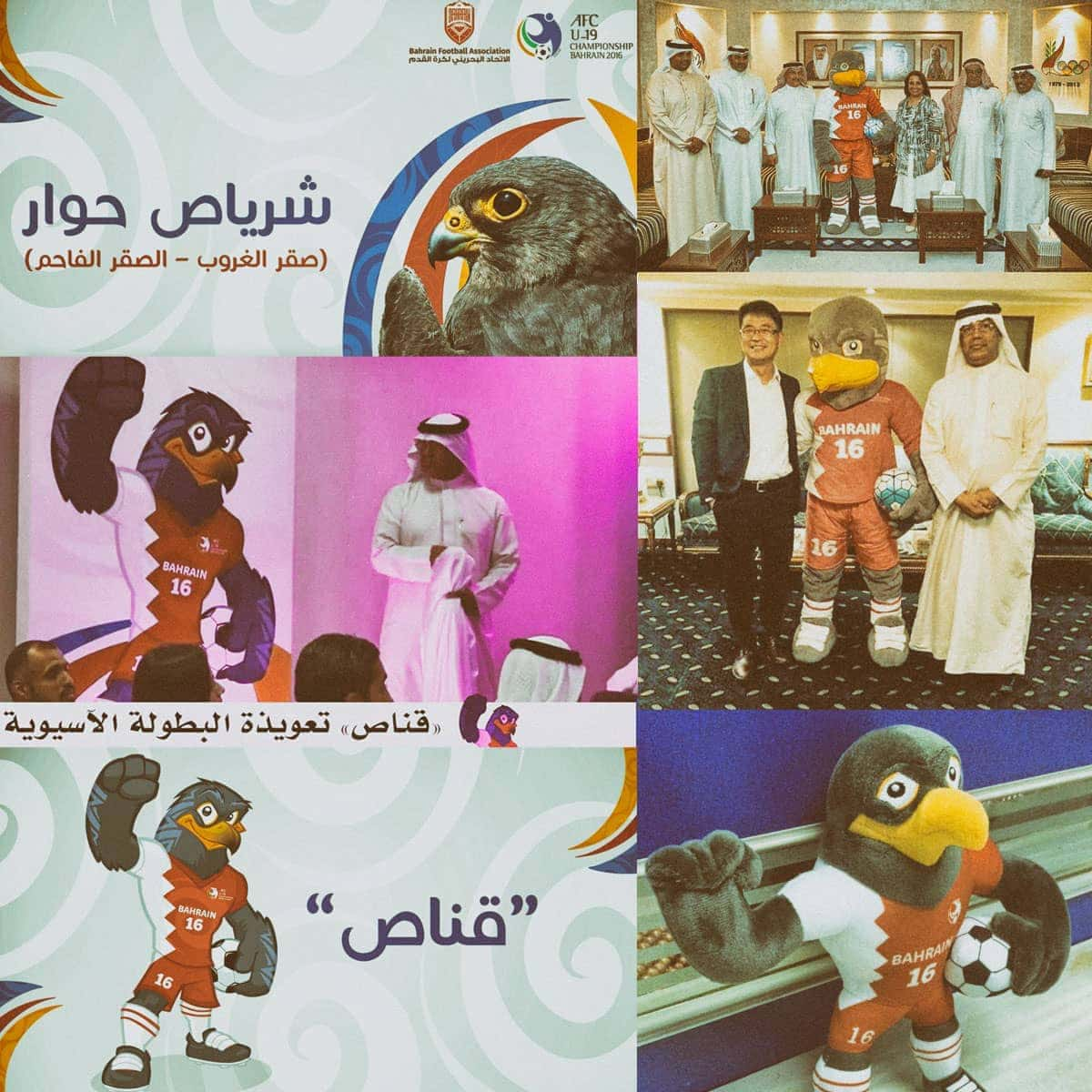 bahrein mascot costume