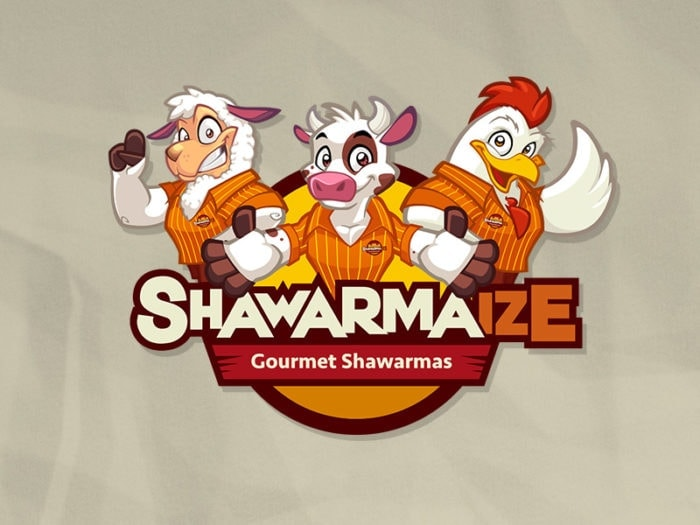 mascot logo shawarmaize