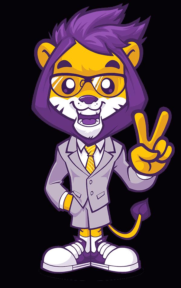 mascot design lion