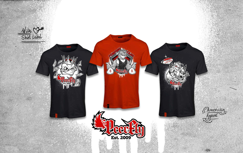 peerfly mascot design tshirt