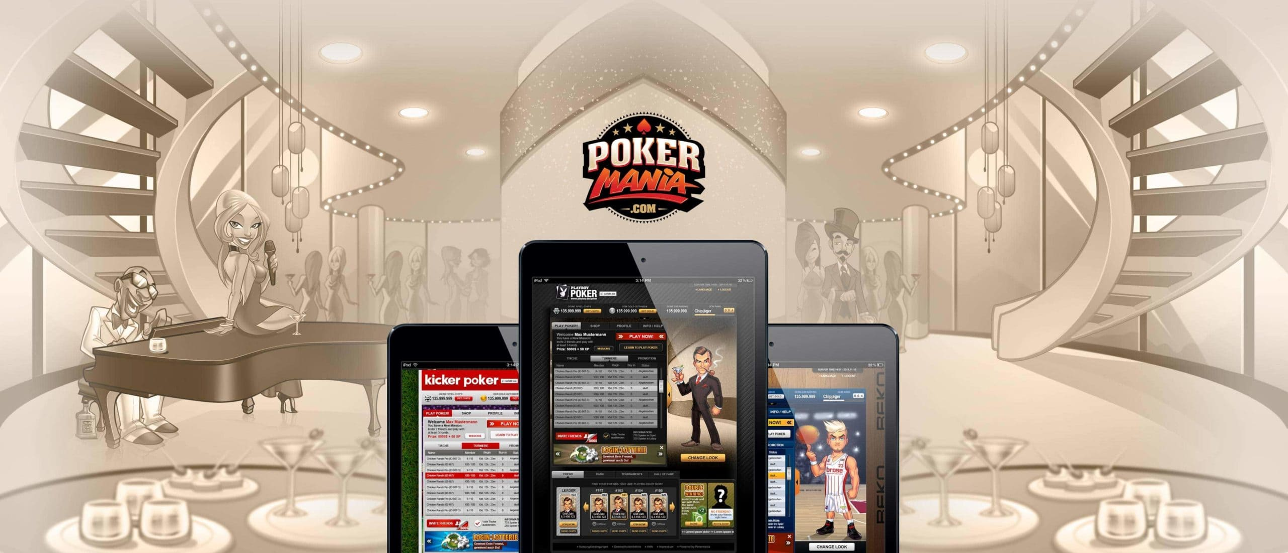 poker game illustration