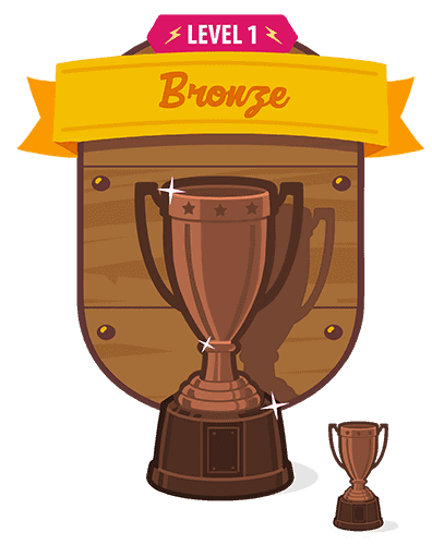 bronze trophy interface design