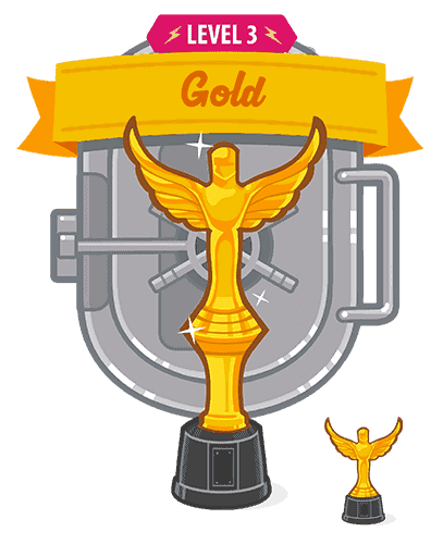 gold trophy interface design