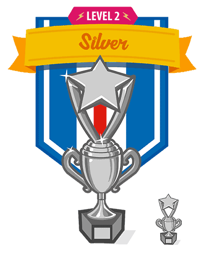 silver trophy interface design