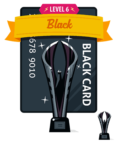 black trophy interface design