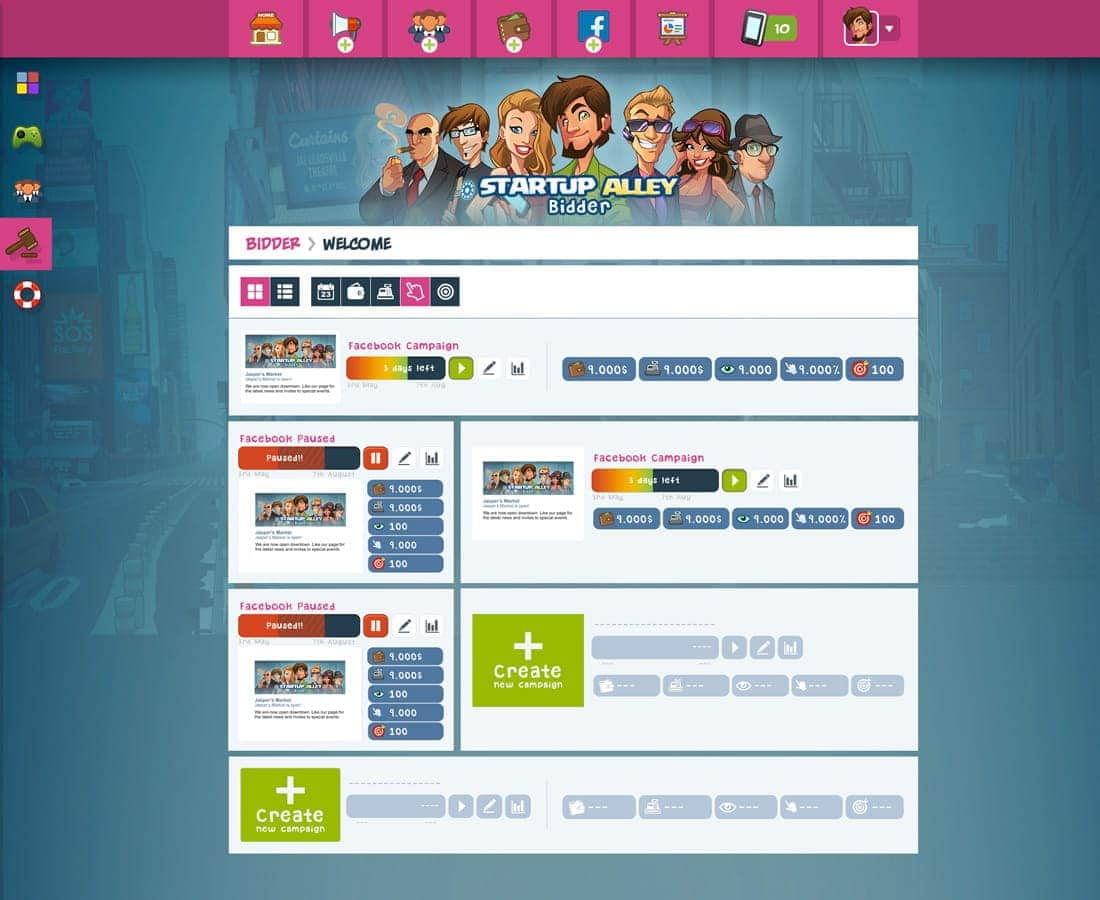 wallet ux ui desktop