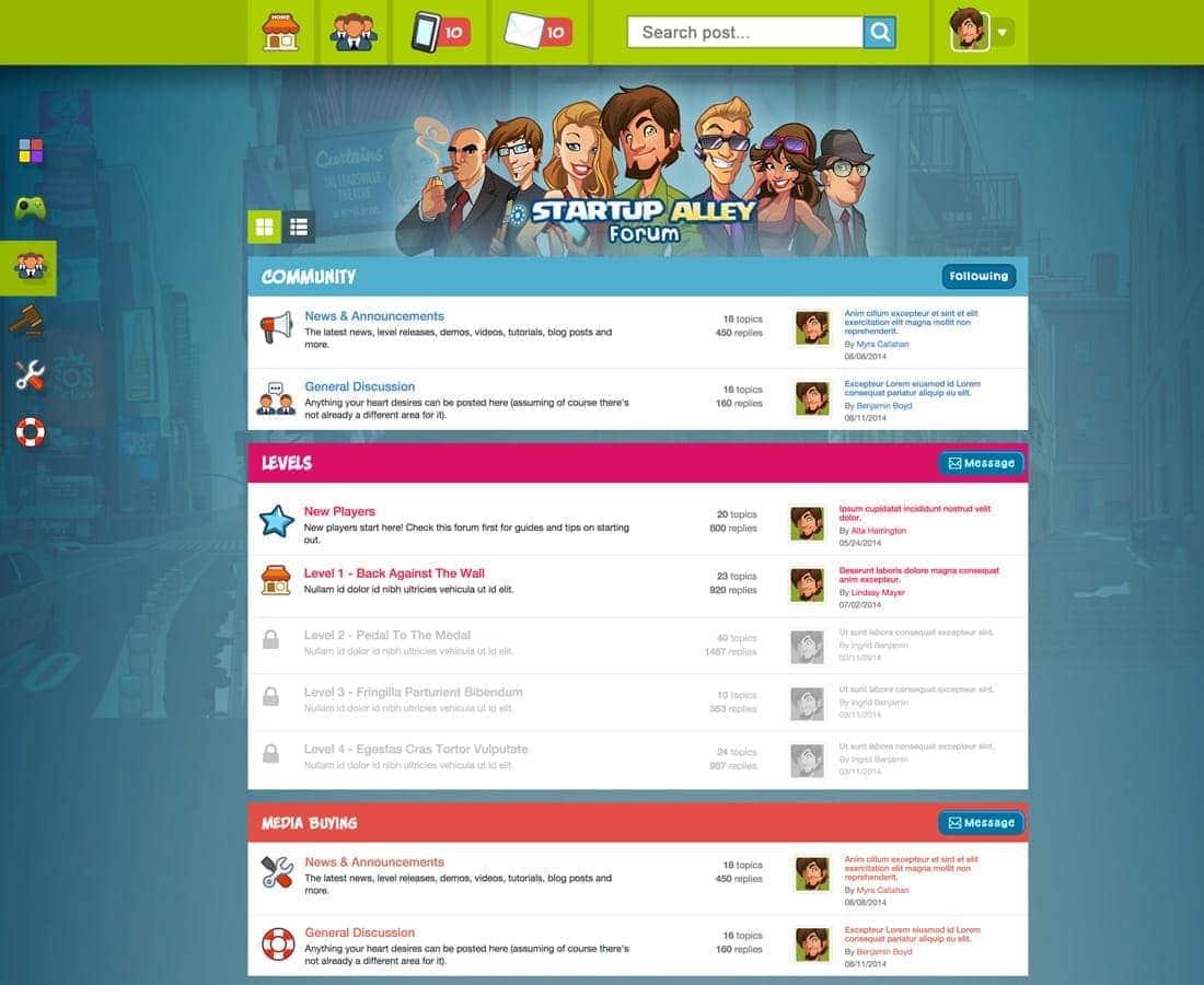 forum desktop ux