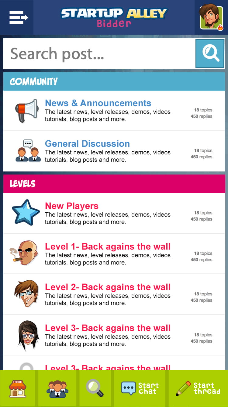 forum mobile ux