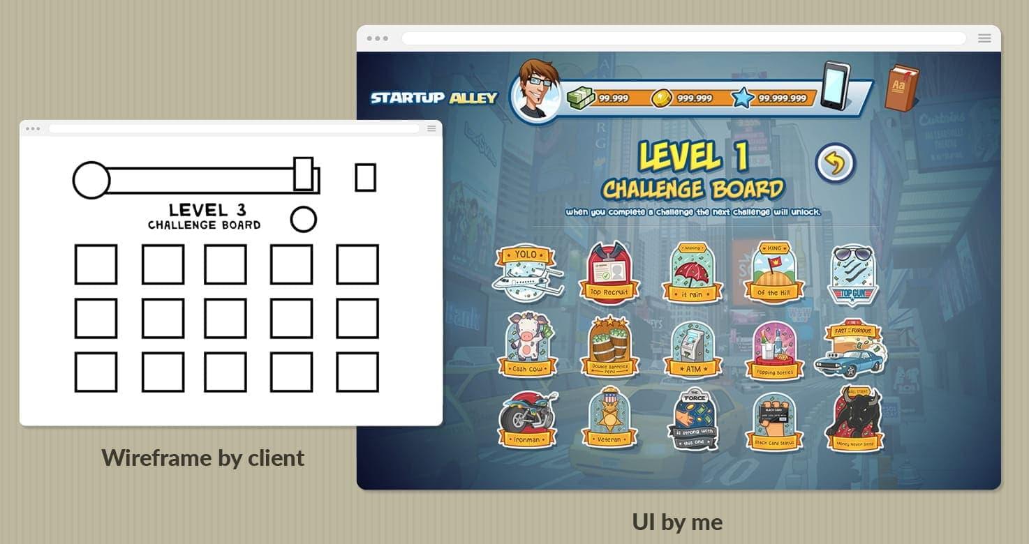 game badges design