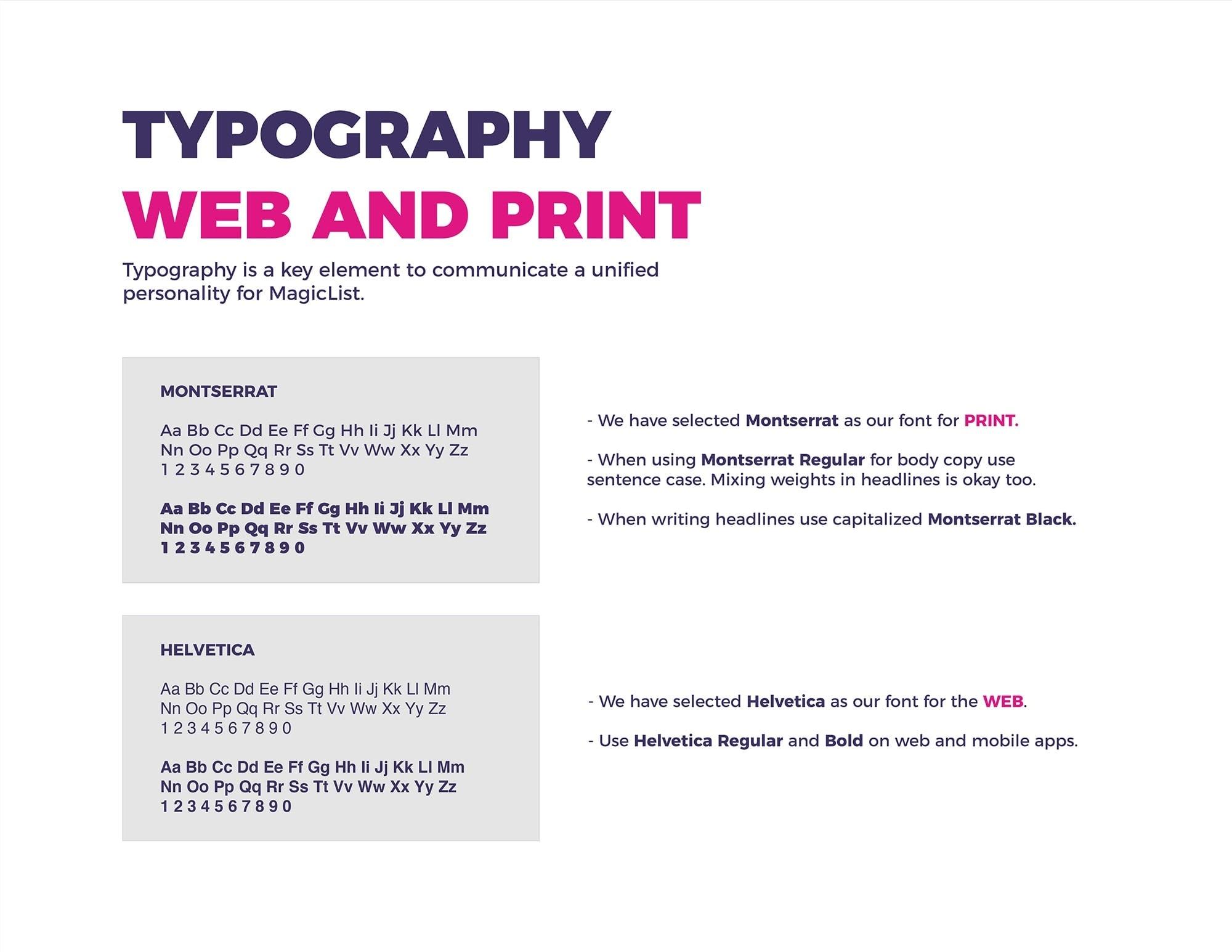 typography brand identity
