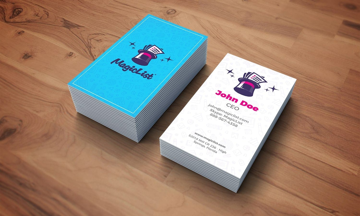 business card design magiclist