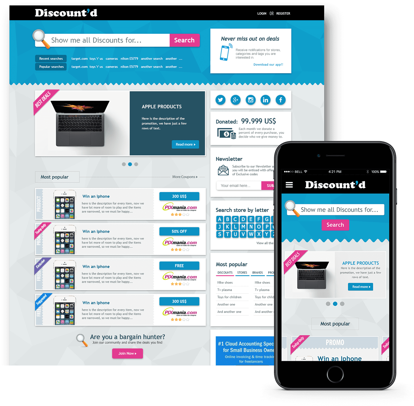 e-commerce responsive web design