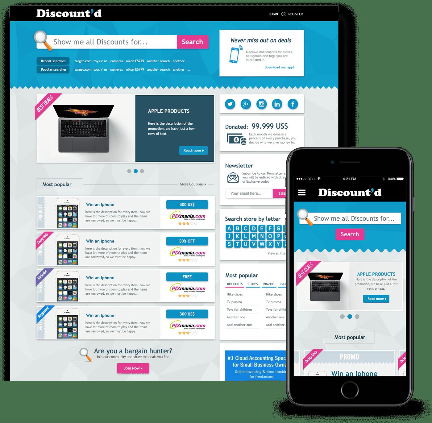 e-commerce responsive web design