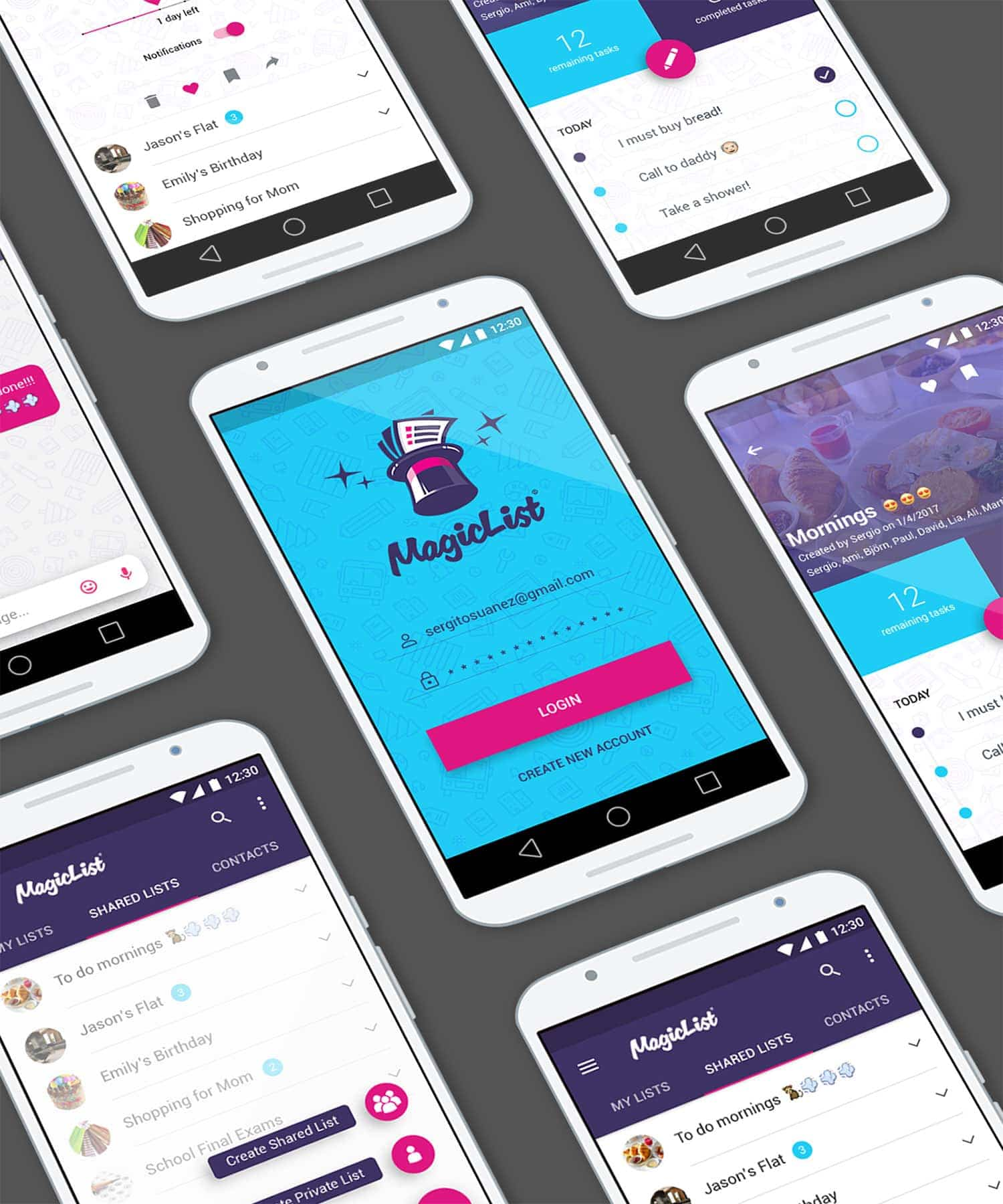iphone app ux ui magliclist