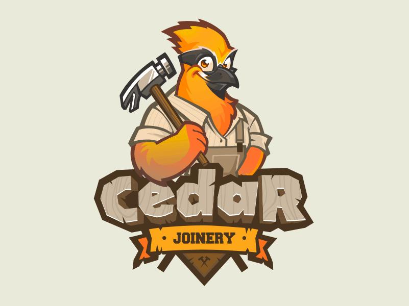 Mascot Logo Design For Carpenter