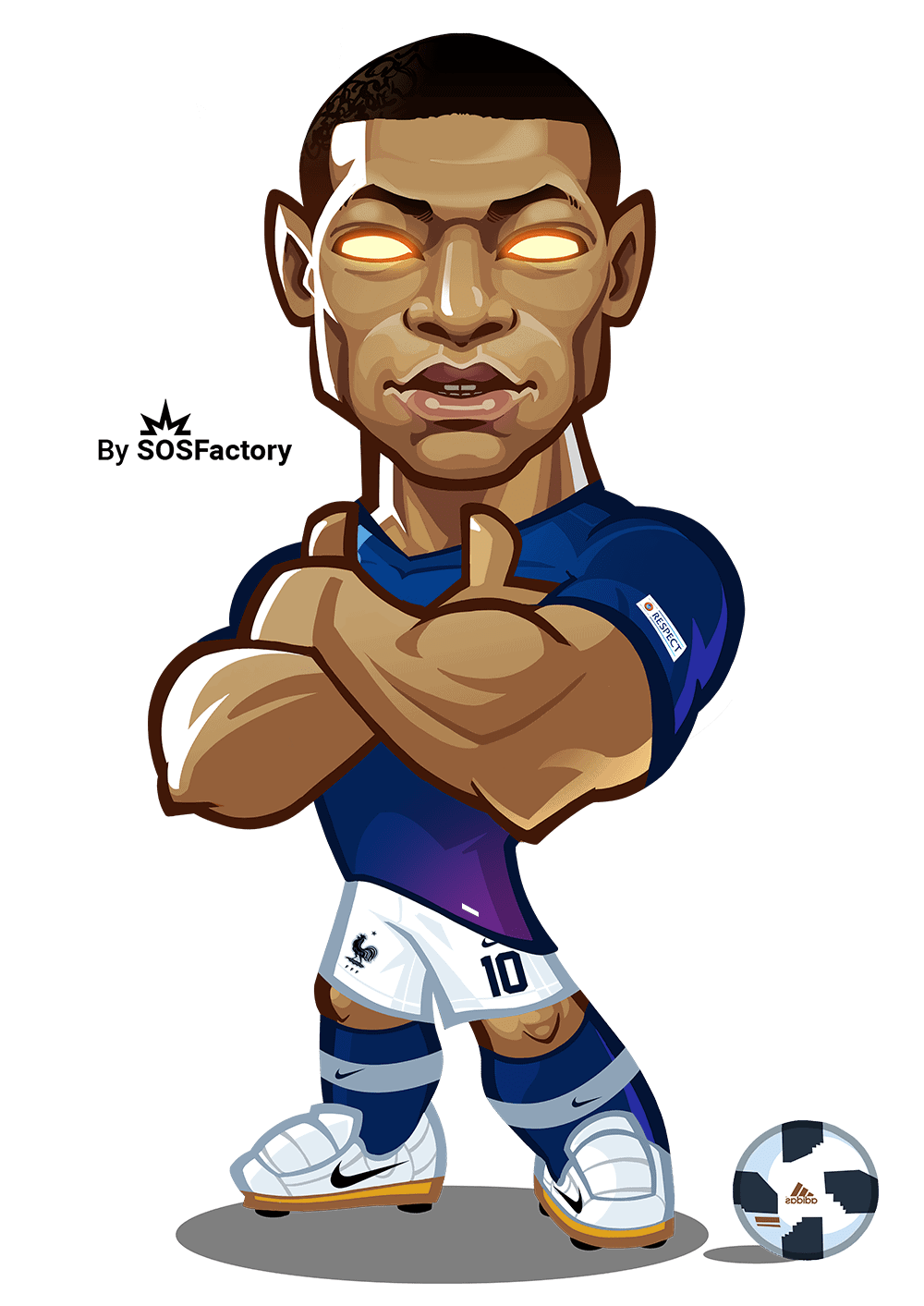 mbappe caricature