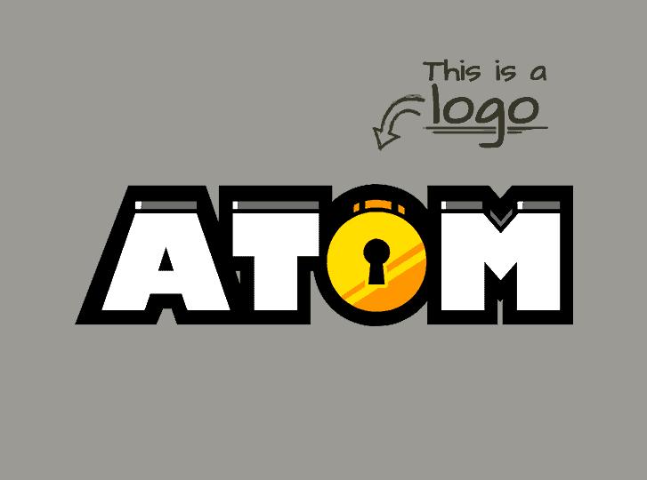 logo design atom