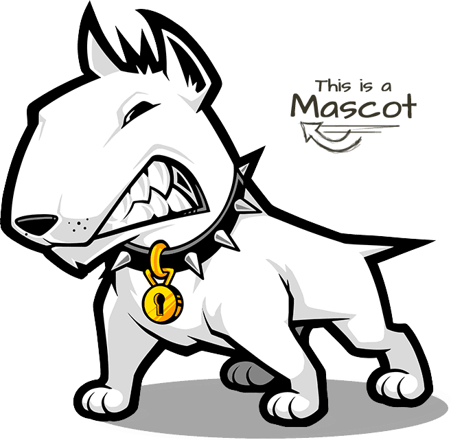 mascot design bullterrier