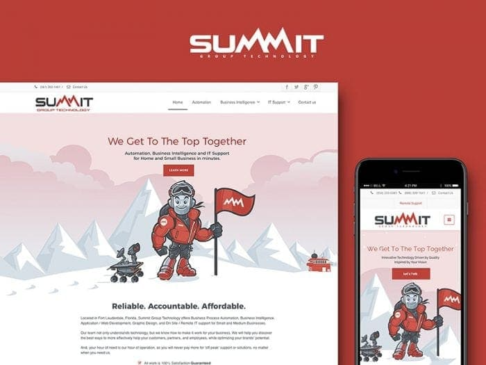 summit corporate and responsive web design
