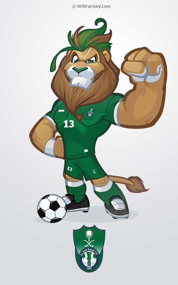 al-ahli mascot design