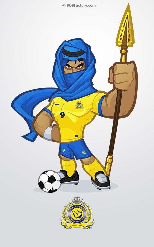 al-nassr mascot design