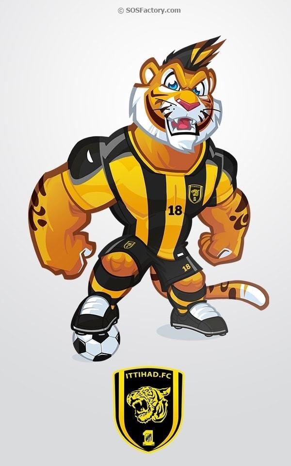 al-ittihad mascot design