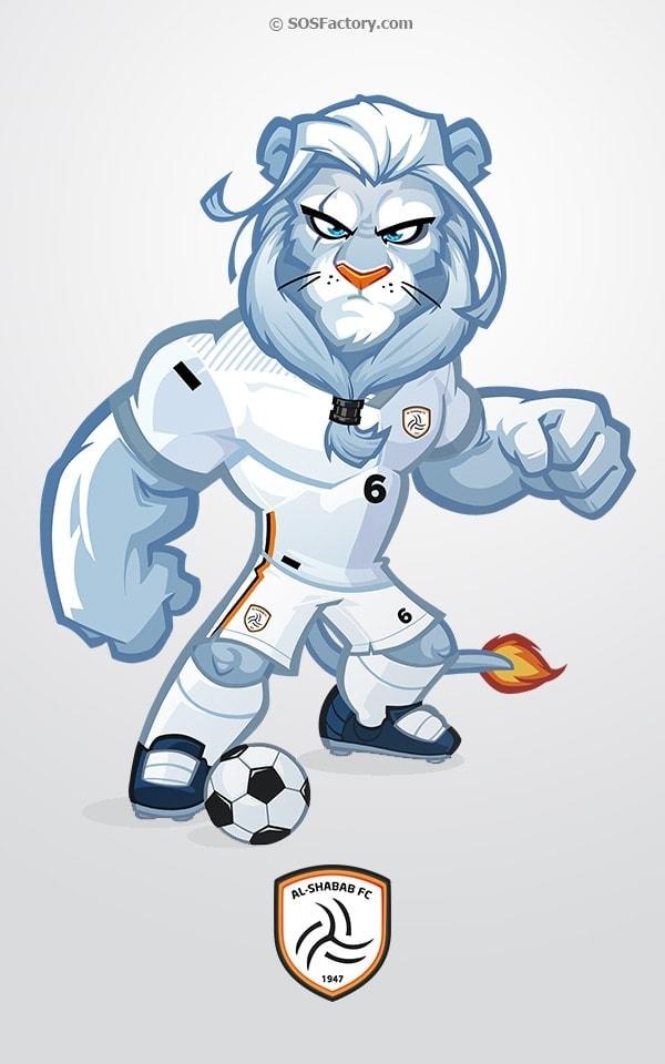 al-shabab mascot design