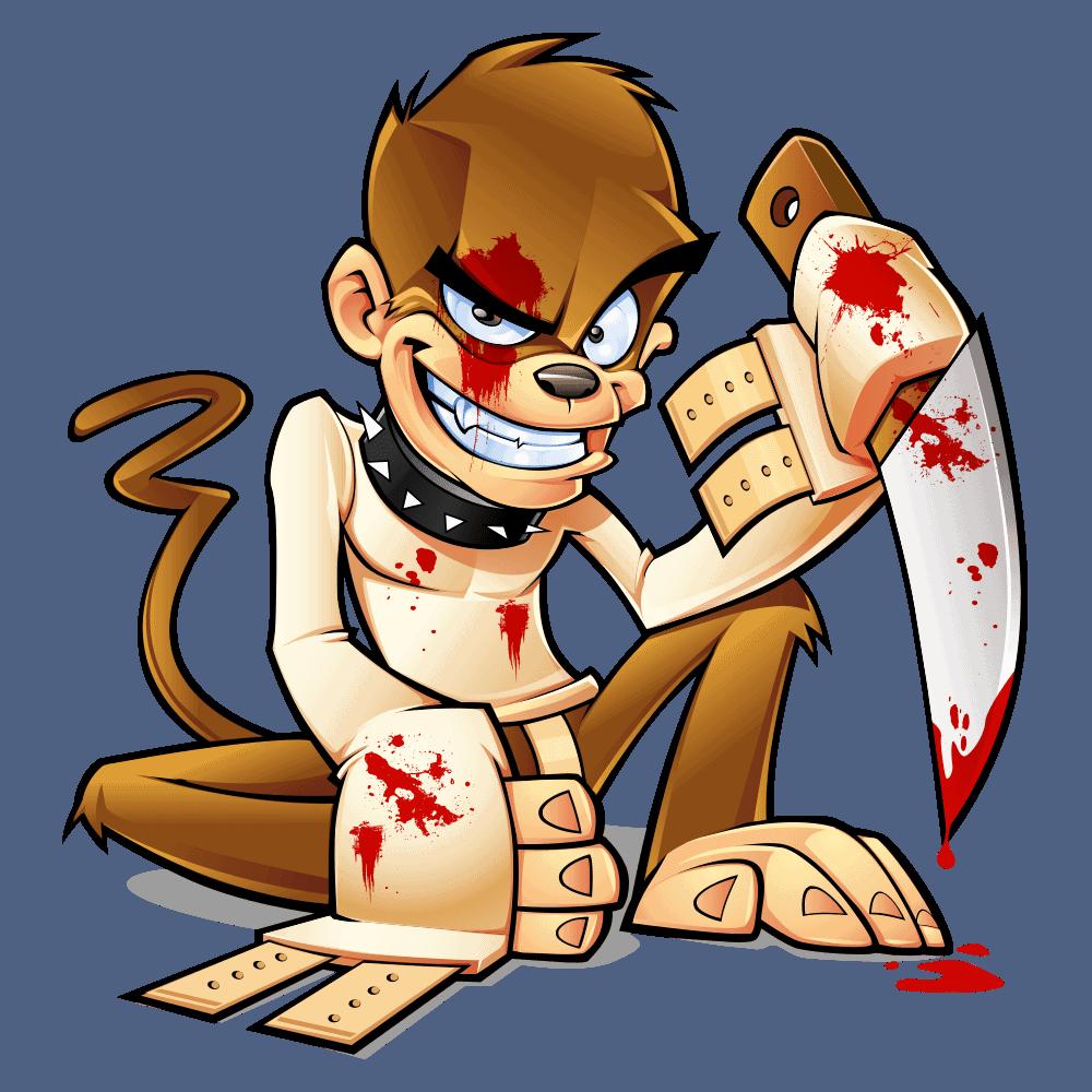 twisted monkey mascot design