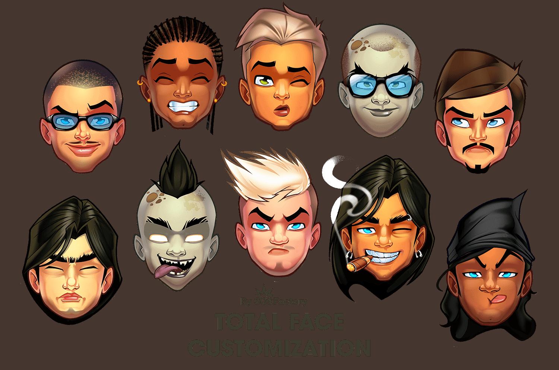 avatar face customization