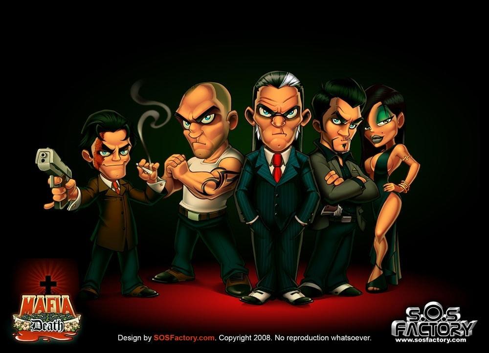 mascot design for Mafia Death