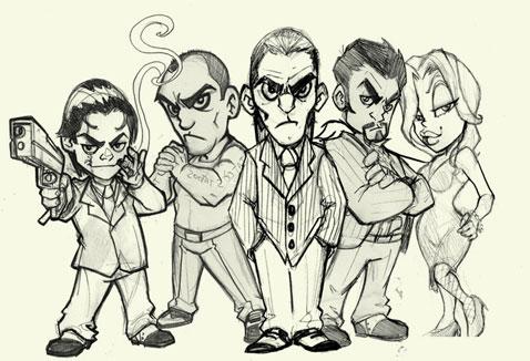 sketch mascot design 04
