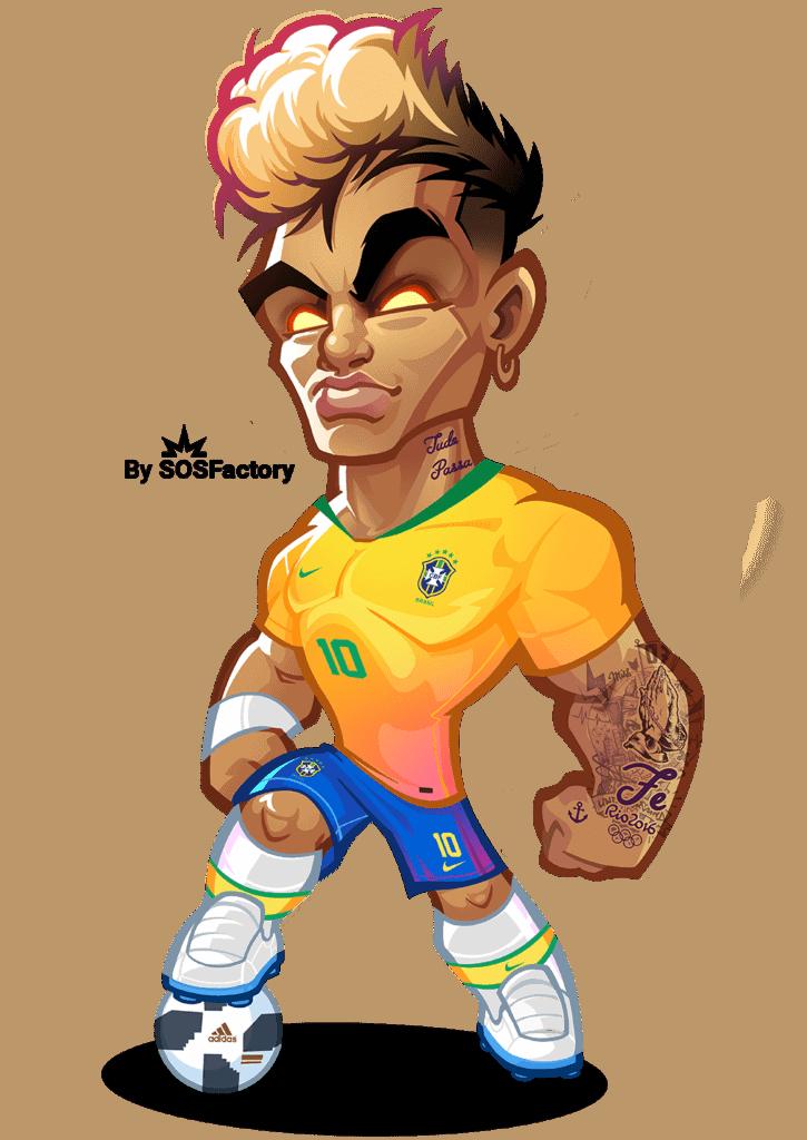neymar jr caricature
