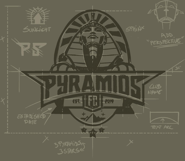 Construcción Logotipo Pyramids FC