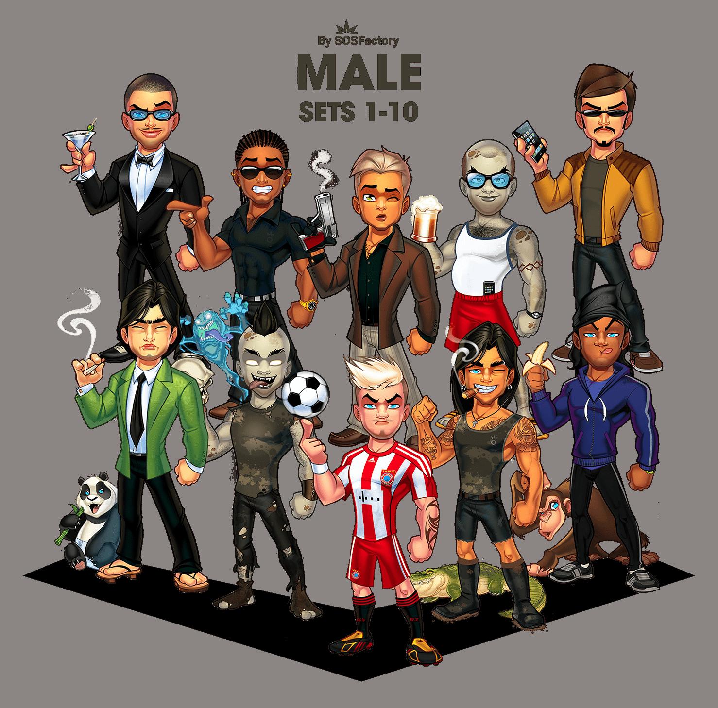male avatar creator 1-10