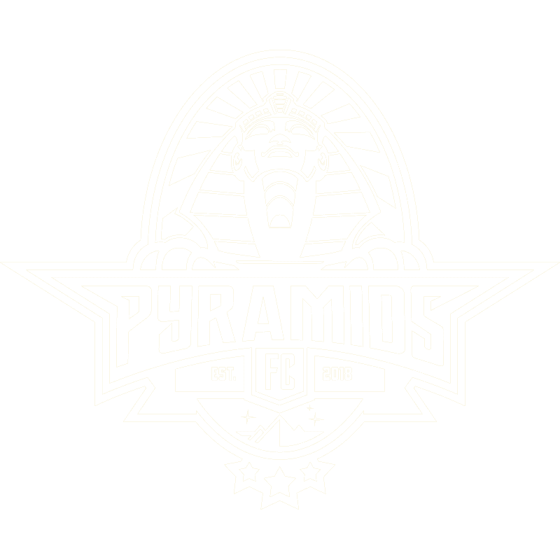 pyramids logo design 1 color white