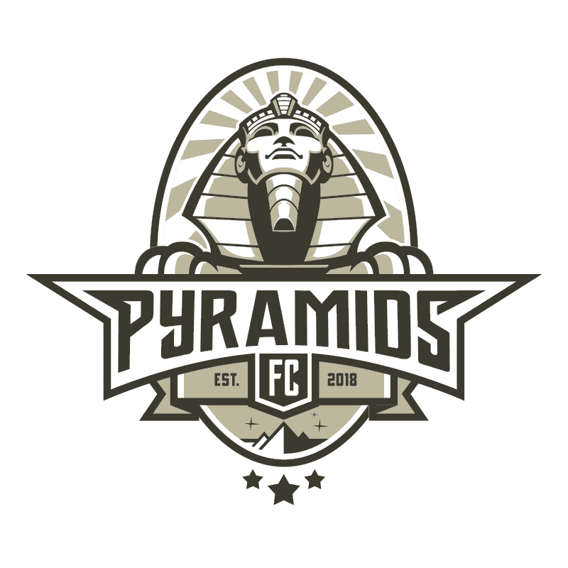 pyramids logo design 2 colors