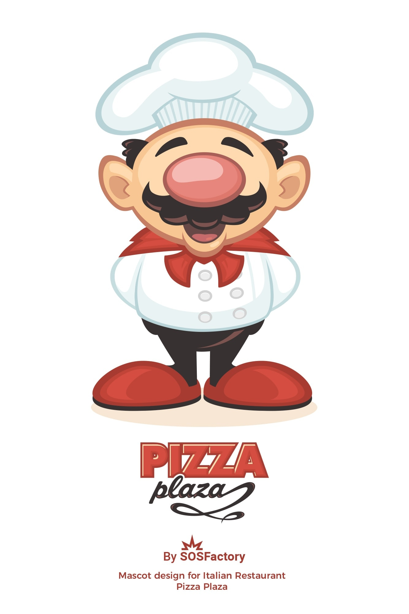 mascot design italian restaurant