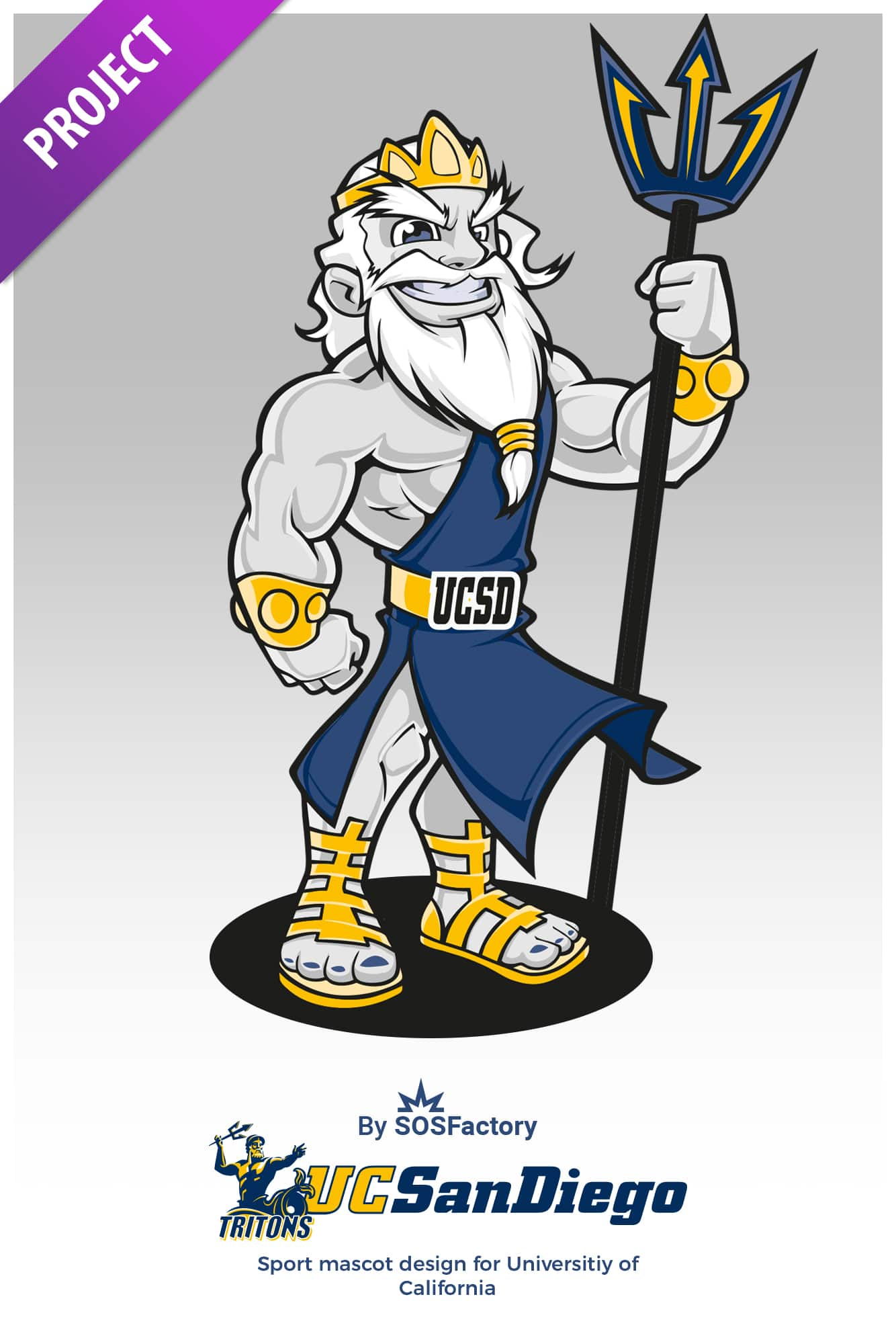 san diego tritons mascot design