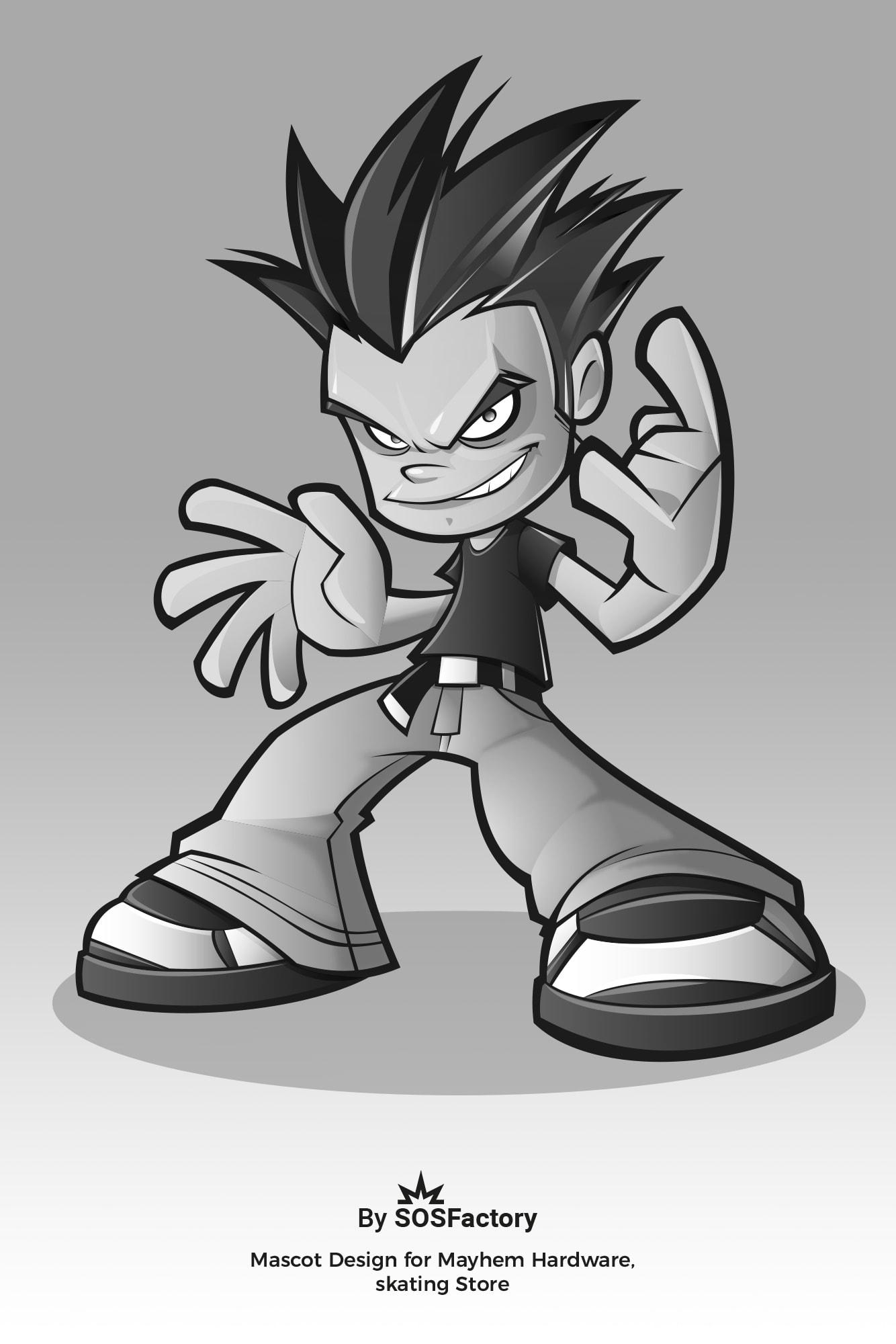 mascot design for skate company