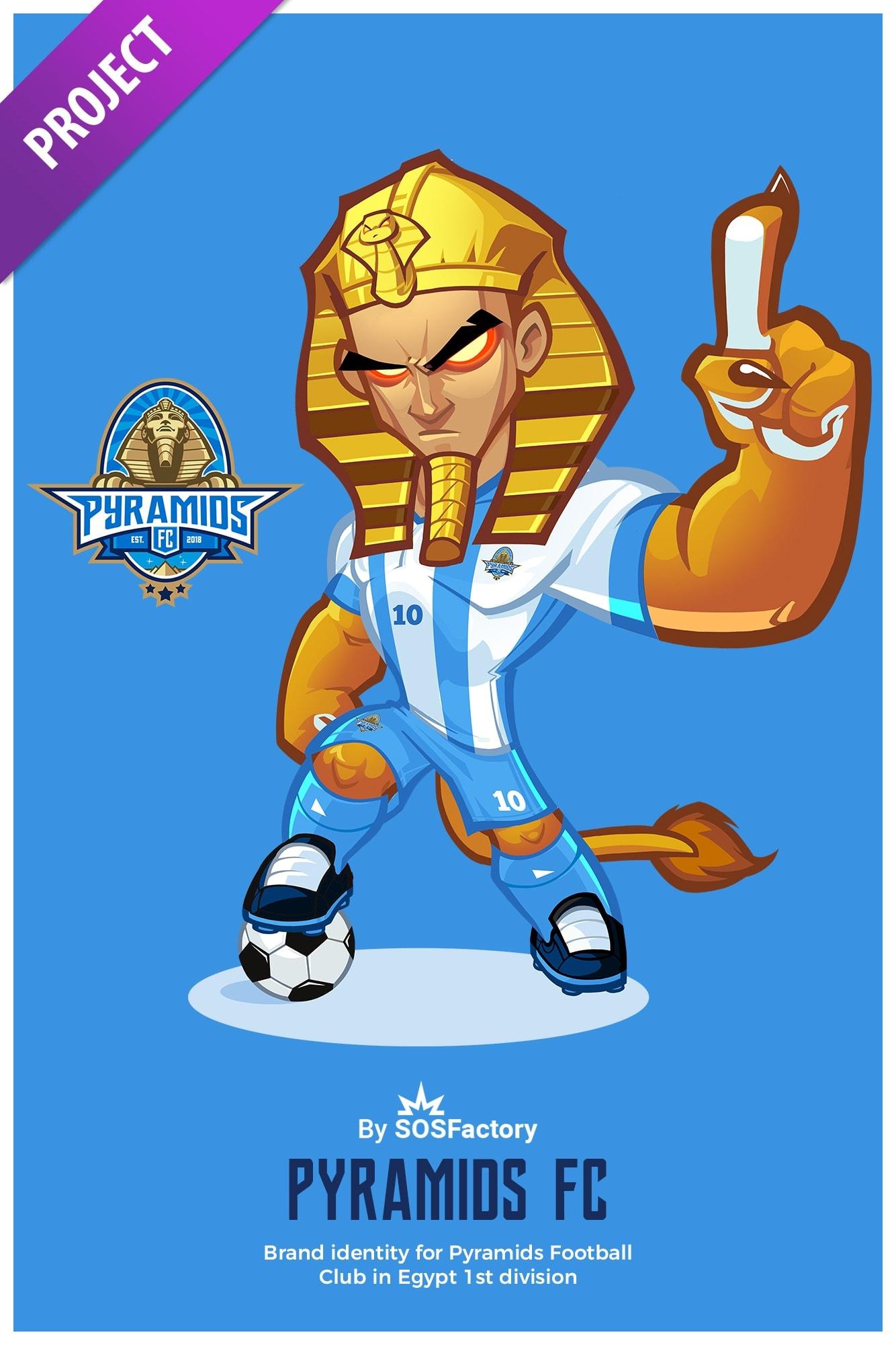 mascot and logo for pyramids